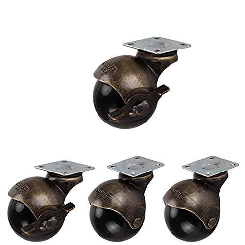 Rueda de pl/ástico y goma de movimiento suave con placa de metal para muebles. Paquete de 25 mm