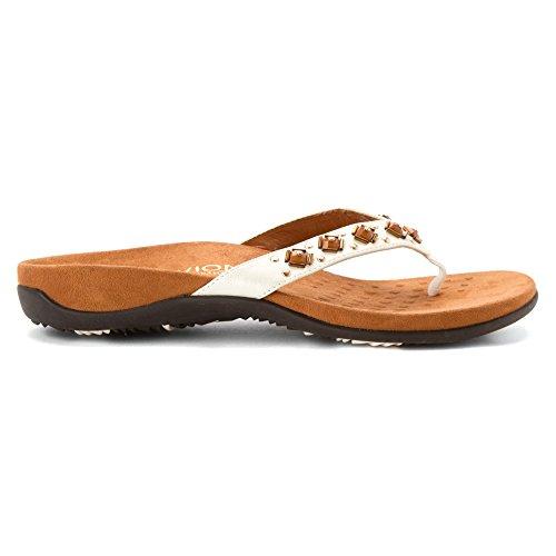 Vionic Floriana Womens Thong Sandals Bronze Croco - 6 Wide White