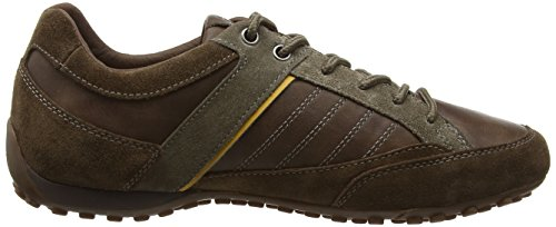 Geox Snake B, Baskets Basses Homme Marron - Brown (Cigar)