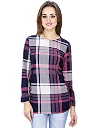 SVT ADA COLLECTIONS Poly Georgette Multicolor Checks Full Sleeves TOP (019911_
