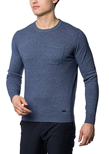 eterna-hombre-mens-knit-sweater-with-round-neckline-denim-blue