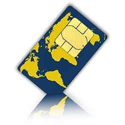 World-SIM Karte für 175 Länder + 20 Euro Guthaben- Standard, Micro & Nano SIM - Welt Prepaid SIM Karte