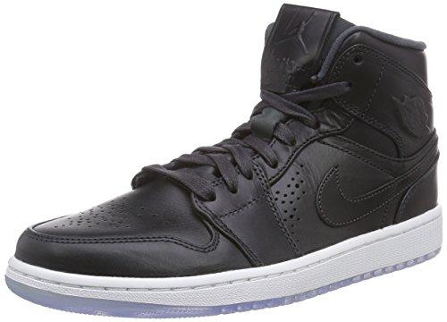 Nike Air Jordan 1 Mid Nouveau, Chaussures de Basketball homme Noir (anthracite/white 003)
