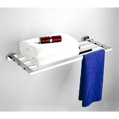 WT Multi-fuction singola porta asciugamani, in ottone cromato, # wt23