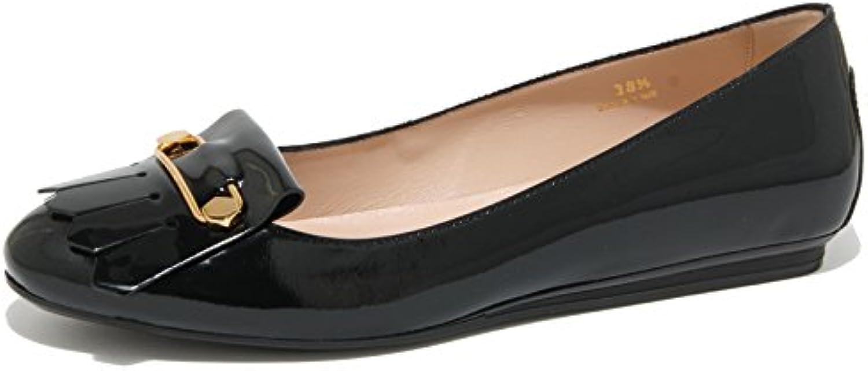 0423O ballerina TOD'S GOMMA FRANGIA nero scarpe donna shoes women