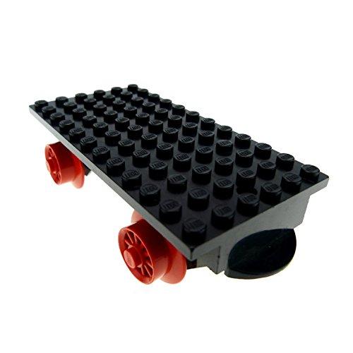 Bausteine gebraucht 1 x Lego System Anhänger schwarz 6x12 Zug Eisenbahn Wagon Wagen für Set 163 725 128 131 x487