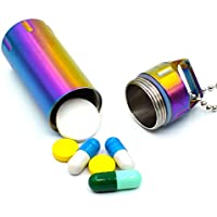 Riao-Tech Big-Size Pillendose Pillenbox Tablettendose Notfall-Kapsel mit Halskette aus Edelstahle Riao-Tech preisvergleich bei billige-tabletten.eu