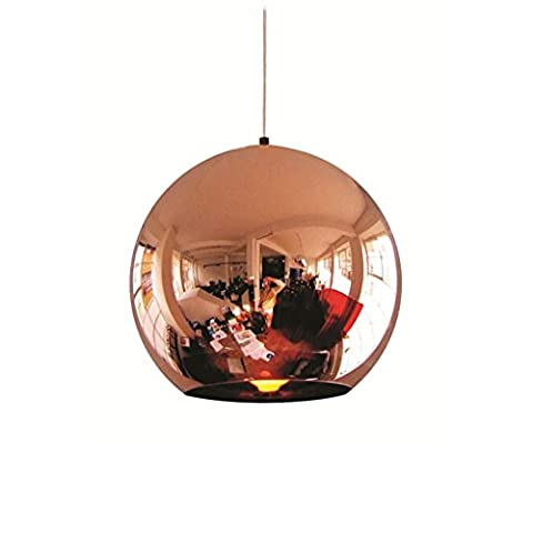Cannli Postmodern Einfache Ball Kronleuchter Decke Glas Lampenschirm Lampe Rose Gold Electro Plating Ball Pendelleuchte Wohnzimmer Lampe Fixture ( Size : 25cm/9.84in )