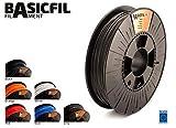 BASICFIL BASICFIL-175PLA-500-GREY 3D Drucker Filament für FDM/FFF, Grau
