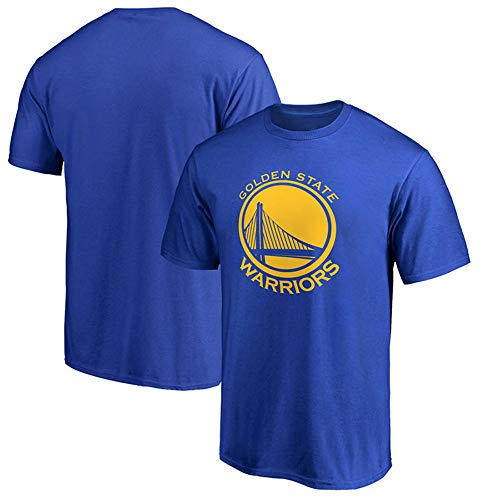 Herren T-Shirt NBA Golden State Warriors Stephen Curry Durant Jersey Rundhalsausschnitt-Breathable Basketball Bekleidung für die Jugend Top Bequeme Sport-T-Shirt Blue-L