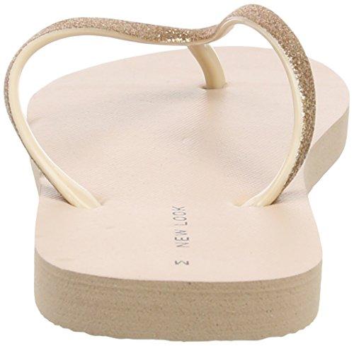 New Look - Glitter, Scarpe col tacco Donna White (Oatmeal)