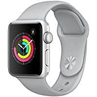 Apple Watch Series 3, 38 mm, Aluminiumgehäuse silber, Sportarmband nebel