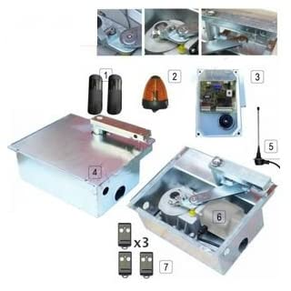 Electric Gate Motor Swing Twin Kit - Leb Stone 24v SS Automatic Gate Kit Designed For Wrought Iron, Metal or Wooden Gates