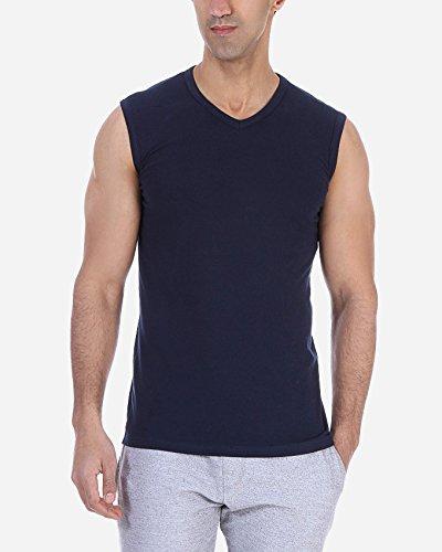 Solo®, muscle t-shirt für Herren, Slim-fit, elastische mit V- Ausschnitt - Herren Business Unterhemd, Komfortabel und sehr weich Tank Top. sportliche Freizeit Outfit. Navy