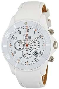 Ice-Watch - CH.WE.B.L.11 - Chrono - Montre Homme - Quartz Analogique - Cadran - Bracelet Cuir Blanc