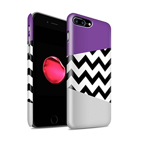 STUFF4 Matte Snap-On Hülle / Case für Apple iPhone 5/5S / Hübsche Ombre/Funkeln Muster / Lila Mode Kollektion Geometrischer Zickzack