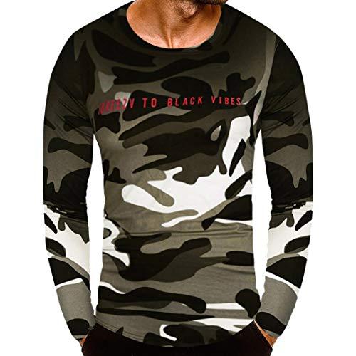 Innerternet Langarmshirt Herren Longsleeve Slim Fit T-Shirt Leicht Oversize Basic Sweatshirt in...