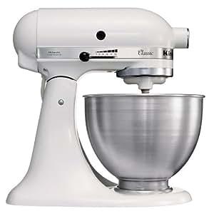 Kitchenaid 5K45SSEWH Robot Mixer Multifunzioni, colore: Bianco