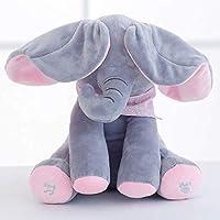 Peek a Boo Rabbit Play Hide Seek Elephant Fan ear Interactive Sing and Play Plush Peter 30cm Toy Kids Birthday Xmas Gift Cute Electric Music Plush Toy