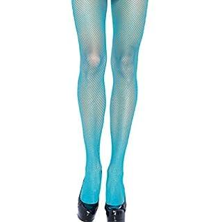 Leg Avenue Damen Nylon Netzstrumpfhose Neon Blau Einheitsgröße 36 bis 40