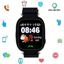 Niños SmartWatch Telefono, GPS LBS WiFi Actividad Tracker Pantalla táctil Inteligente Relojes con Chat SOS