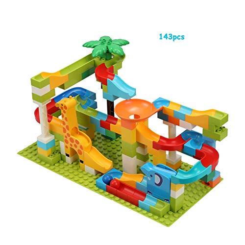 143 STÜCKE Marmor-Laufbahn Eisenbahn Spielzeug DIY Bausteine Für 4 Jahre Alte Jungen Mädchen Geschenk Spielzeug