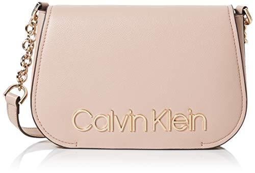 Calvin Klein Damen Dressed Up Xbody Tornistertasche, Pink (Nude), 5x17.8x23 cm