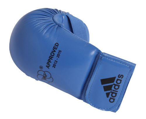 guantini karate kumite Adidas - Guanti da Karate-Kumite/Fit-Boxe Blu Omologati Wkf (XL)