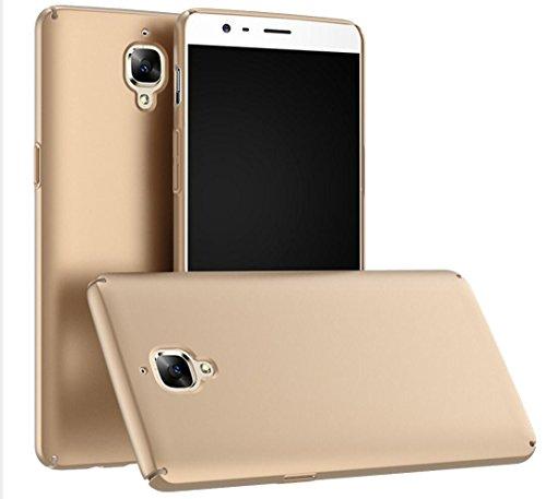 Oneplus 3 Custodia,Slim Ultra Thin Cover Custodia per Oneplus 3 Smartphone (Oro)