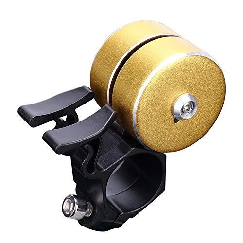 KOBWA Fahrradklingel Fahrradglocke Radfahren,Doppelte Glocken Geräusche Laut Crisp Ton Löschen für Mountainbike Rennrad BMX, Radfahren Ring Horn Zubehör