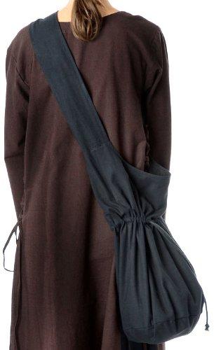 Mittelalter Umhänge-Tasche braun schwarz rot grün blau beige Baumwolle/Leinenlook Mittelalterliche Kleidung (one size, schwarz) - 2