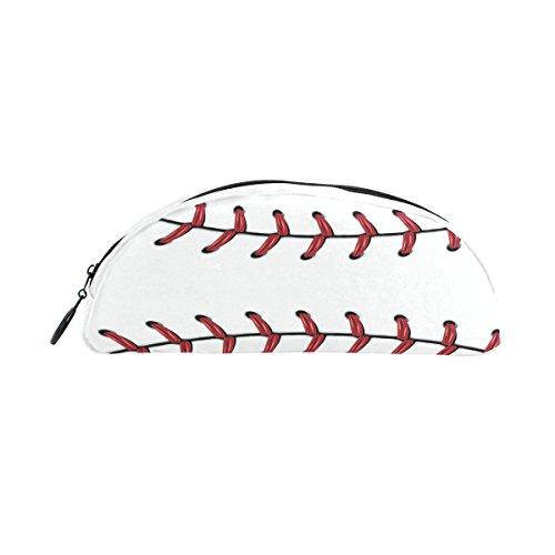 zzkko Softball Baseball Reißverschluss Pen Bleistift Tasche für Kinder Mädchen Jungen Jugendliche Erwachsene (Baseball-softball-taschen)