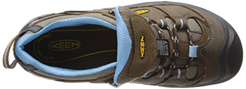 Keen Durand WP, Scarpe da Low Rise Trekking Donna Marrone / Blu (DARK EARTH/ALASKAN BLUE)