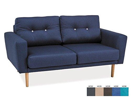 Sofa 'Guazapa' Couchgarnitur Skandinavisch Barock, Farbe:Grau