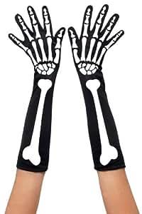 Smiffy's 28416 Damenhandschuhe mit Skelettaufdruck, Einheitsgröße