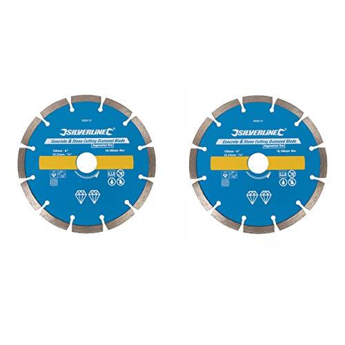 2 Stück Ersatz Diamant Trennscheiben Diascheibe passend für Mauernutfräse FERM WSM 1008 1009 / GÜDE MD 1700 / MEISTER MMF 1700 / MATRIX WC 1800 / VARO POWX 650 -