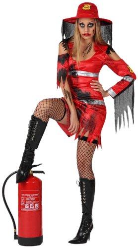 Costume da Pompiere Zombie Donna Taglia2 M/L_14899