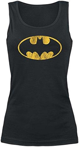 Batman Vintage Logo Top Mujer Negro S