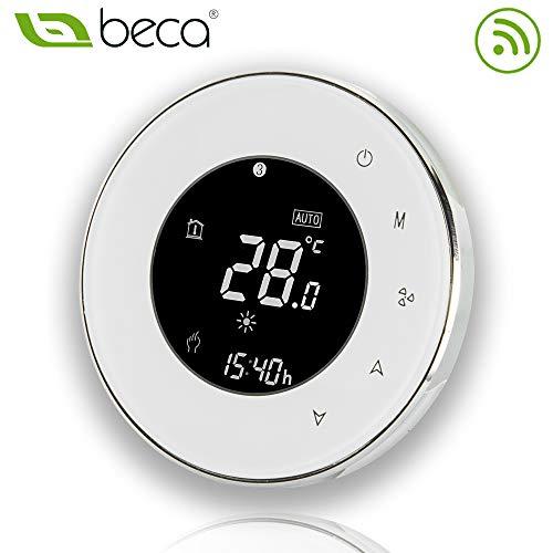 BECA 95 ~ 240VAC Vier Rohr Wifi Programmierbare Runde Touchscreen Klimaanlage Thermostat (BAC-6000ELW Weiß) -