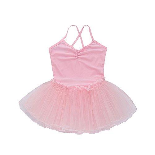 Junjie Plus Size Mädchen Ballett Kleid Tutu Trikot Tanz Gymnastik Strap Kleidung Outfits Rosa, Blau, Pink, Gelb, Weiß, Rot, Grün