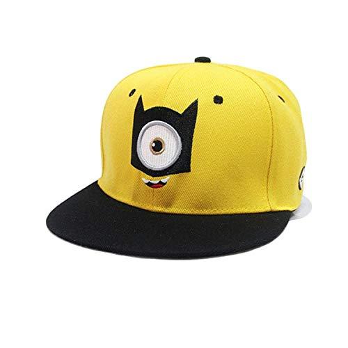 qqyz2323 Fashion Baseball Cap Snapbacks Children Cartoon Minions Hat Embroidery Big Eye Casquette for Boy and Girl Kleine Augen Kid (Kleine Minion Boy)