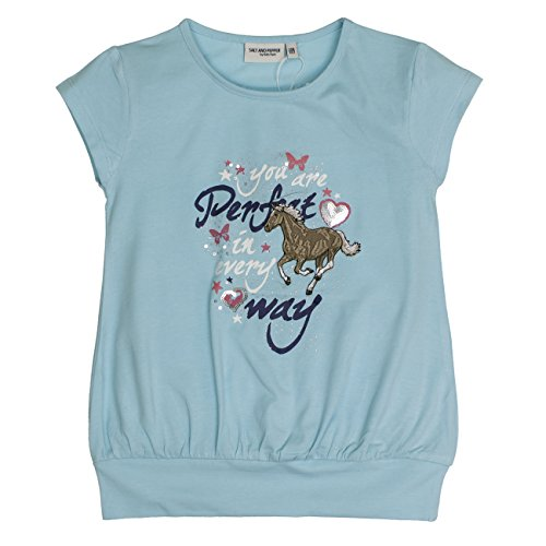 Salt & Pepper Girl's Horses Uni Bund T-Shirt