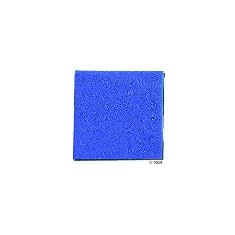 Mousse bleue : 25 X 25 X 5 alvéolage fin : 30 ppi aquarium et bassin