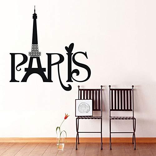 Verkaufstapetenwohnzimmerdekoration-Wandaufkleber des englischen Paris kreativer Mustertext heißer