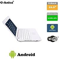 "G-Anica Ordenador portátil de 10.1""(WIFI, 1.5GHz 512 MB de RAM, 4 GB de disco duro) Android 4.4.2 Netbook color Blanco"