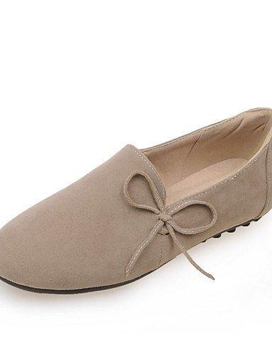 Shangyi Gyht Chaussures Femme-lacé-loisirs / Décontracté / Sportif-confortable-flat-sweatshirt-noir / Vert / Tissu Amande Amande