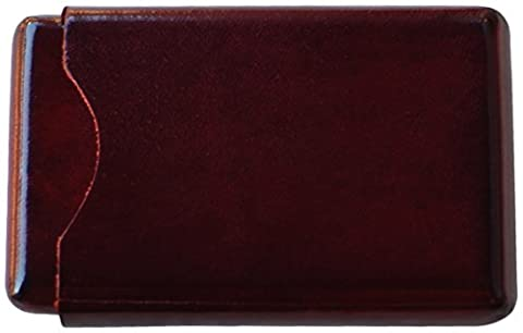 Il Bussetto Firenze Wallet for Business Cards / Credit Cards in Artisanal Bordeaux Red Leather
