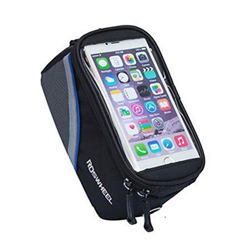 Fafada 5,5' Fahrrad Handy Tasche Wasserabweisend Case Schutz Halter Oberrohr Handy Hülle Cover für Iphone Samsung HTC Blau