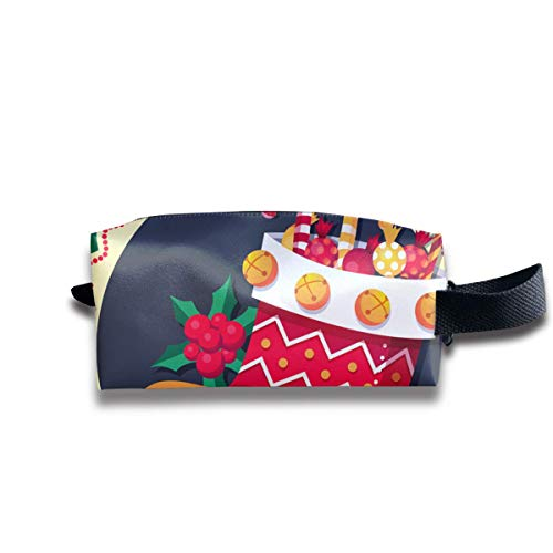 Christmas Stockings Full of Candied Fruit Women Cosmetic Bag Travel Girls Oxford Toiletry Bags Elegant Portable Hanging Organizer Makeup Pouch Pencil Case