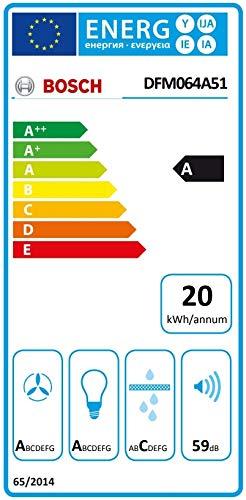 Bosch Serie 4 DFM064A51 - Campana (420 m³/h, Canalizado/Recirculación, A, A, C,...